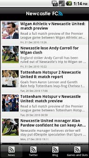 Newcastle United FanZone - screenshot thumbnail