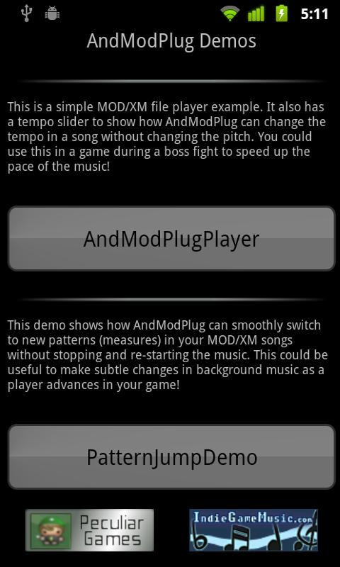 AndModPlug Demos - screenshot
