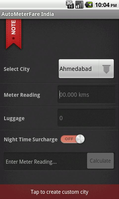 AutoMeterFare India OLD - screenshot