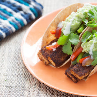 Tofu Fajitas with Fresh Guacamole & Whole Wheat Tortillas
