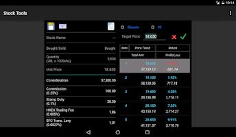 Screenshot of Stock Tools