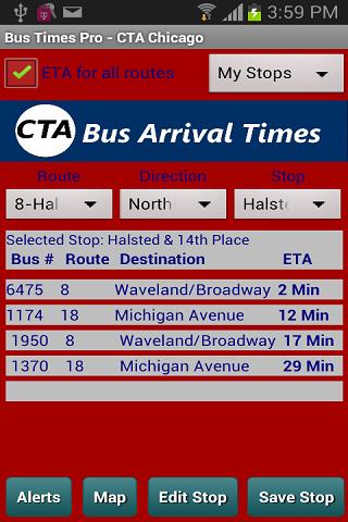 CTA Bus Tracker Pro
