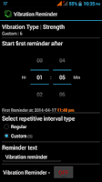 Screenshot of Vibration Reminder