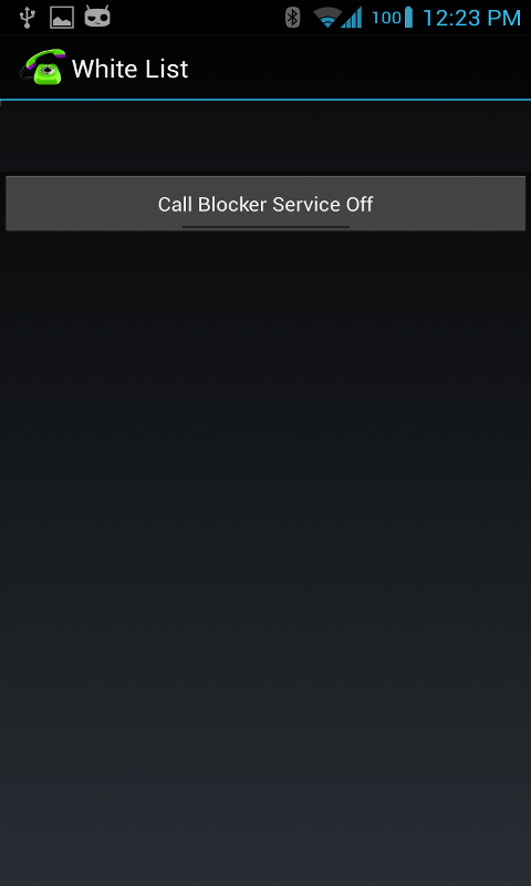 Whitelist Call Blocker- screenshot