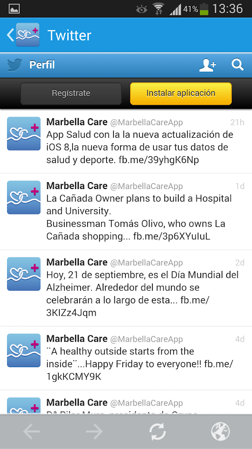 Marbella Care- screenshot