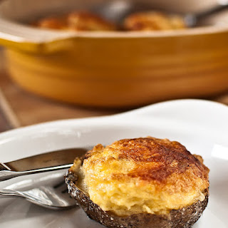 Potato Souffle with Garlic Scapes.