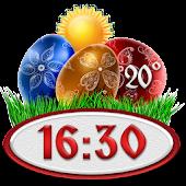 Easter Weather Clock Widget
