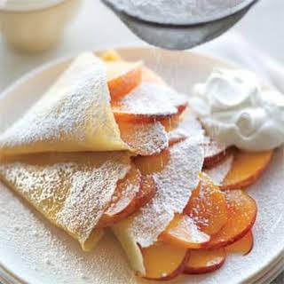 Peaches and Cream Crepes.
