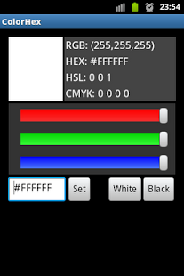 Color Hex RGB HEX CMYK Codes - screenshot thumbnail