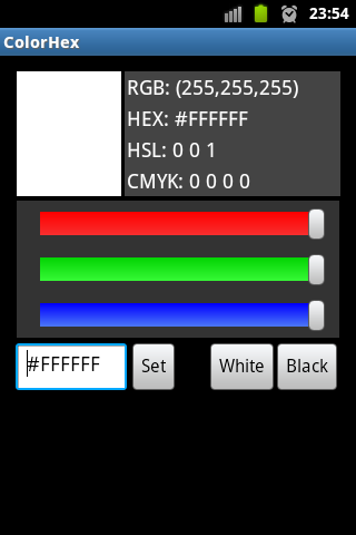 Color Hex RGB HEX CMYK Codes - screenshot