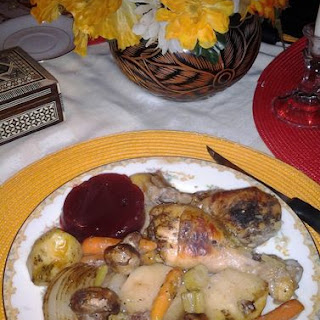 Sage & Onion Chicken with Potatoes & Mushrooms.