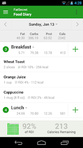 Calorie Counter by FatSecret v4.1.1.1