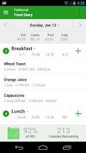 Calorie Counter by FatSecret - screenshot thumbnail