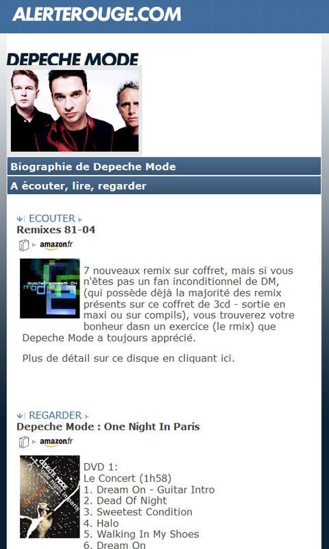 AlerteRouge Bio Disco Graphies– Capture d'écran