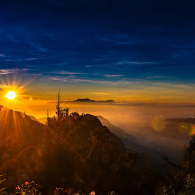 Hello Sunshine by Alexander Nainggolan - Landscapes Mountains & Hills ( clouds, mountain, indonesia, bromo, misty,  )