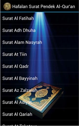 Hafalan Surat Pendek Al-Qur'an