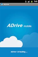 Screenshot of ADrive Mobile