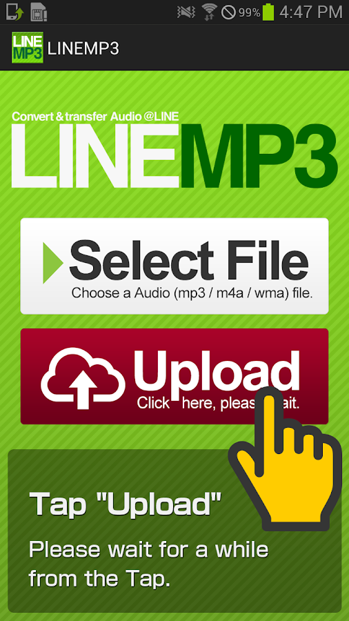 LINEMP3- screenshot