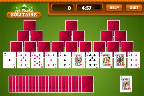 Tri Peaks Solitaire Free + - screenshot