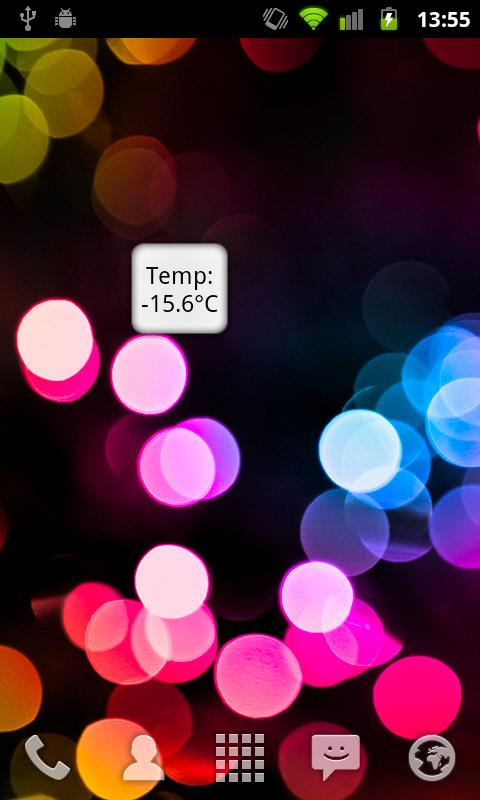 Marge Temperature Widget - screenshot