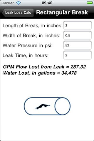 Leak Loss Calculation- screenshot