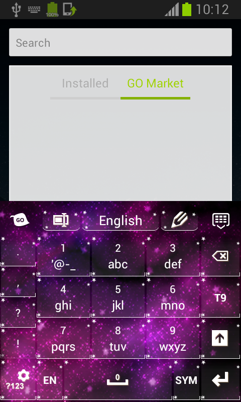 Pink Galaxy Keyboard - screenshot