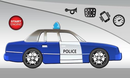 警车乐趣为孩子们