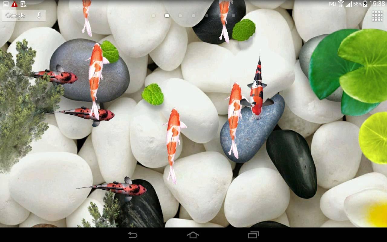 Koi Fish Aquarium Live Wallpaper 3D Poster