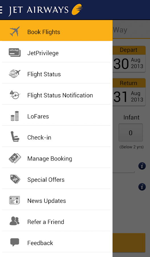 Jet Airways - screenshot