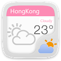 Pink Go Weather Theme Free