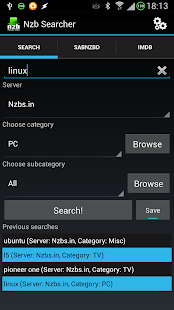 Nzb Searcher (Newznab)- screenshot thumbnail