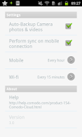 Screenshot of COMODO Cloud