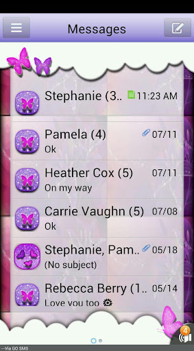 ButterflyFantasy2 GO SMS THEME