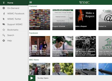WSMC Public Radio App- screenshot thumbnail