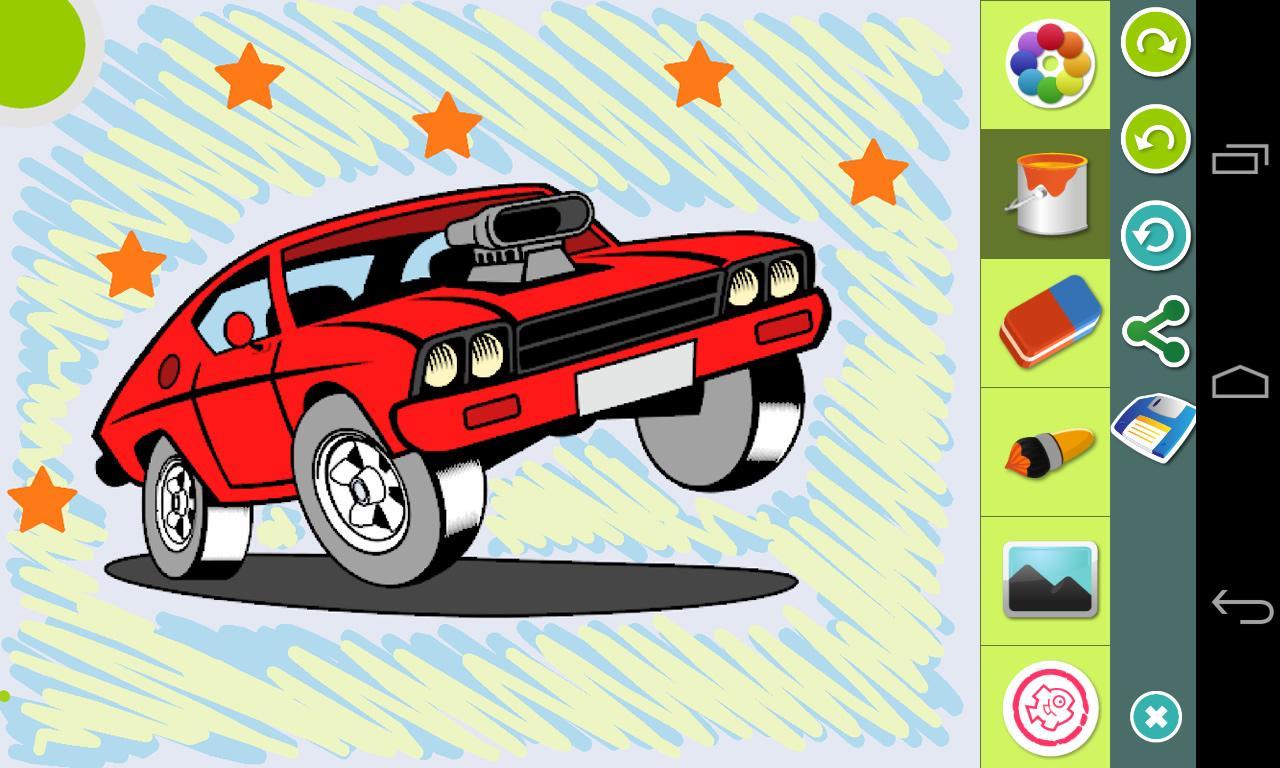 cars coloring book screenshot