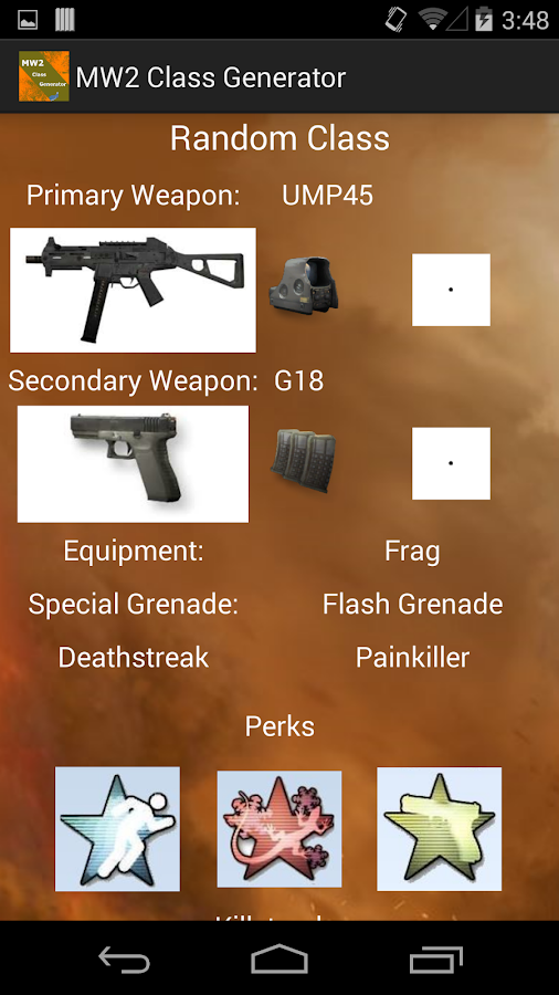 Mw2 Class Generator Android Apps On Google Play