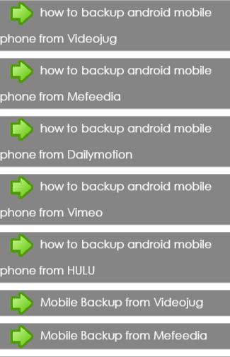 Mobile Backup Tips