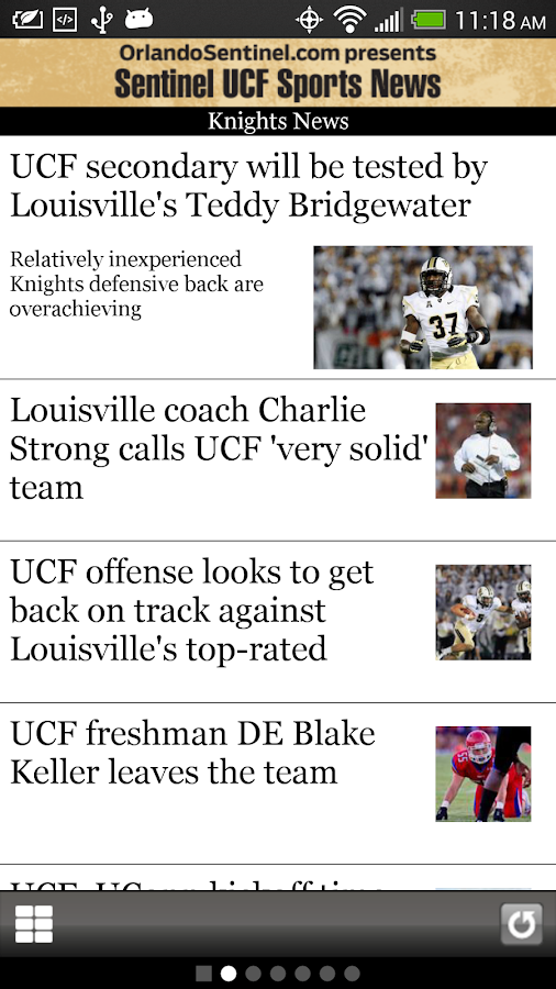 Orlando Sentinel UCF Sports- screenshot