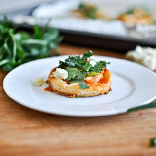 Mini Buffalo Shrimp Puff Pastry Pizzas.