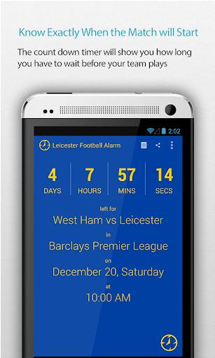 Leicester Football Alarm Pro