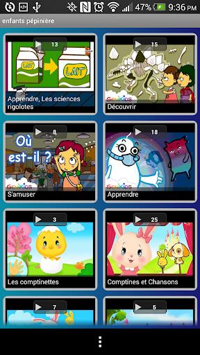 Vidéos éducatifs pour enfants