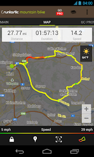 Runtastic Mountain Bike GPS - screenshot thumbnail