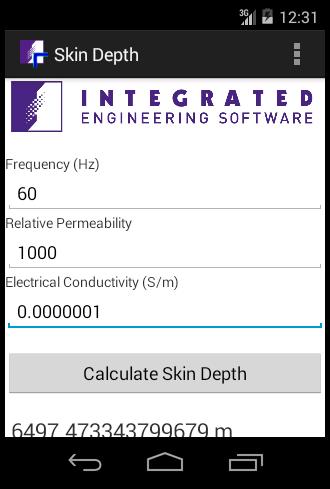 Skin Depth Calculator