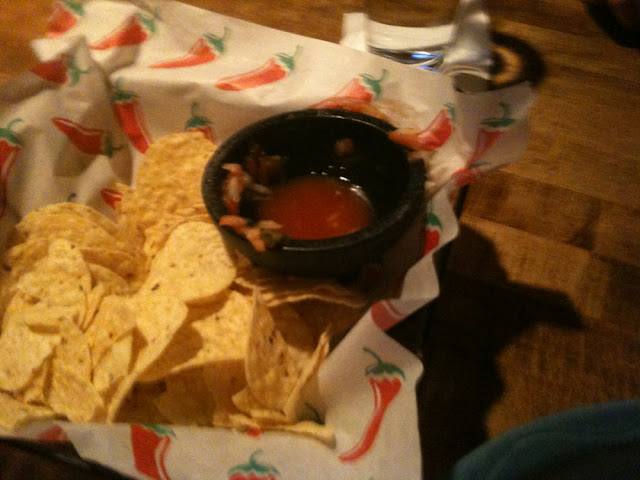 Provided me a personal basket of gf chips and salsa