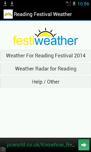Reading Festival Weather