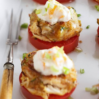 Zucchini Stuffed Crab Cakes