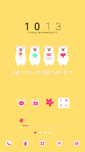 Teddy dodol launcher theme