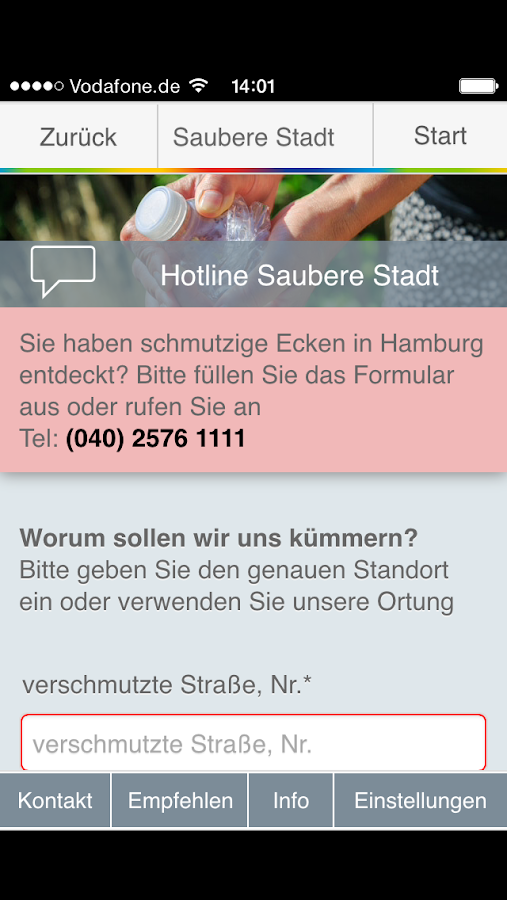 Stadtreinigung Hamburg- screenshot