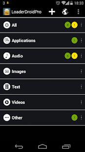 Loader Droid download manager - screenshot thumbnail