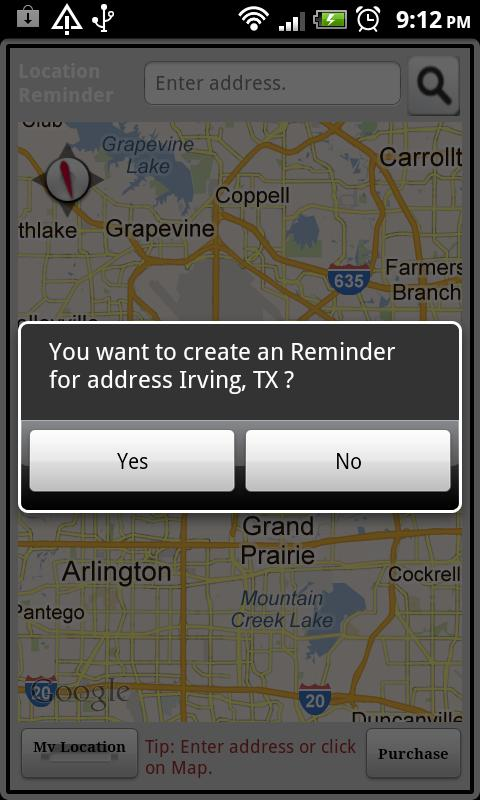 Location Reminder- screenshot